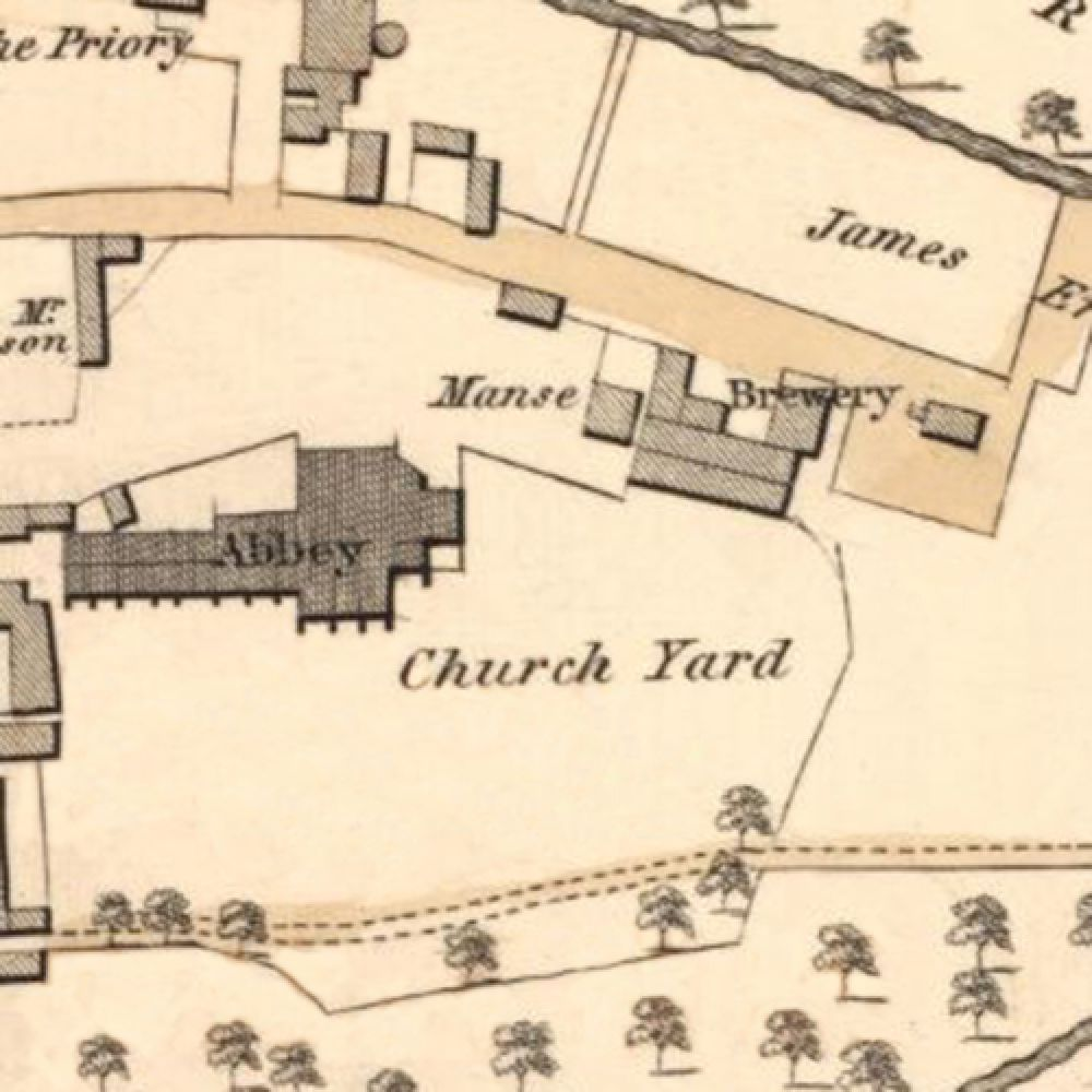 Map of 1826 showing the layout of the Abbey Brewery. © National Library of Scotland, 2016