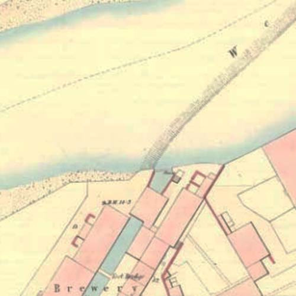 Map of 1857 showing the Annan Brewery. © National Library of Scotland, 2015