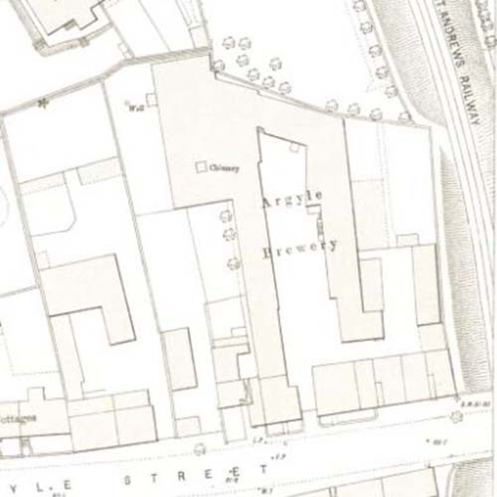 Map of 1893 showing the Argyle Brewery. &copy: National Library of Scotland, 2015