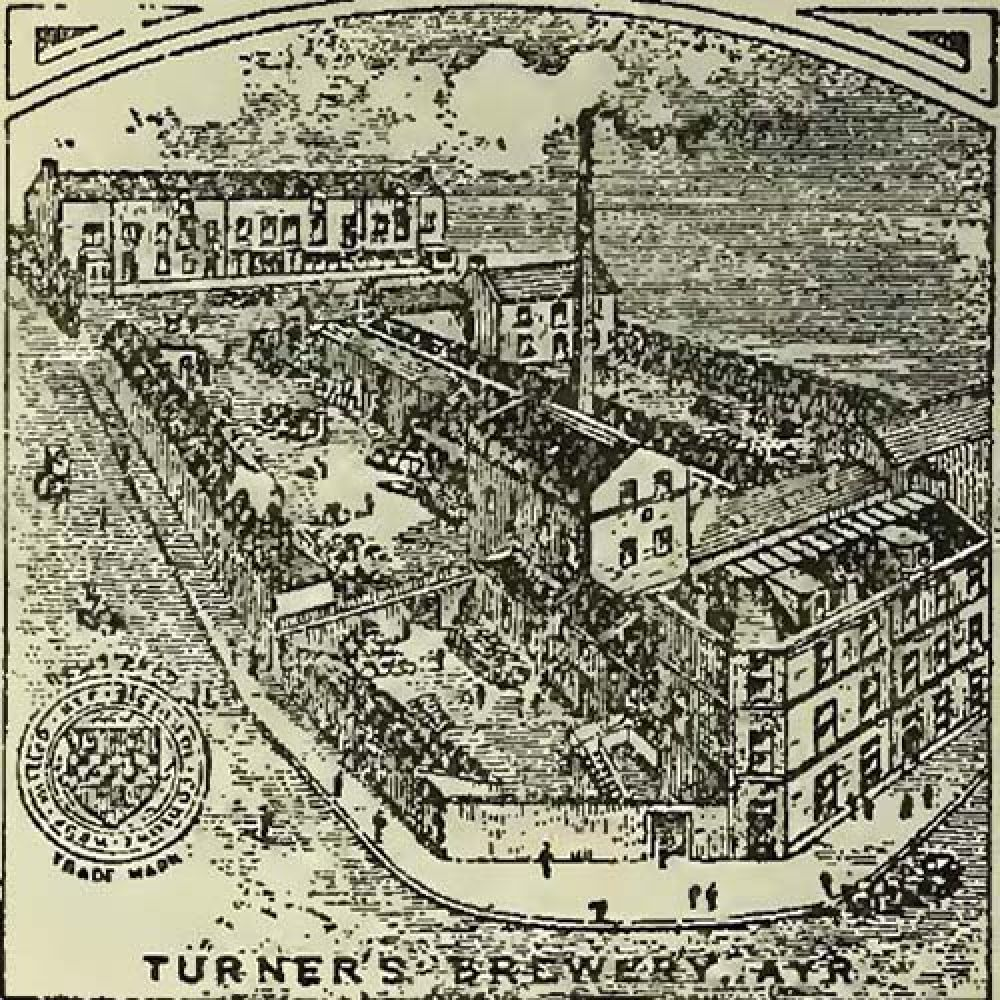 The Ayr Brewery, drawn in the 1890s