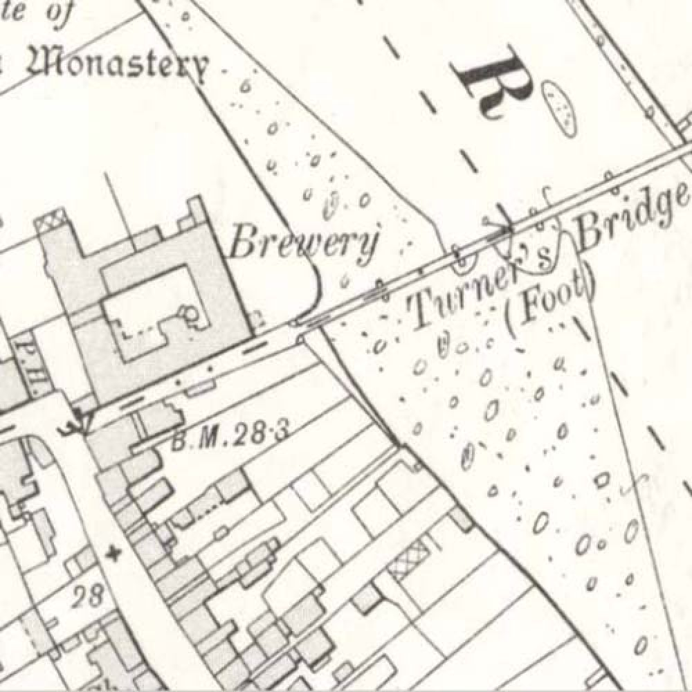 A map of 1908 showing the layout of the Ayr Brewery. © National Library of Scotland, 2015