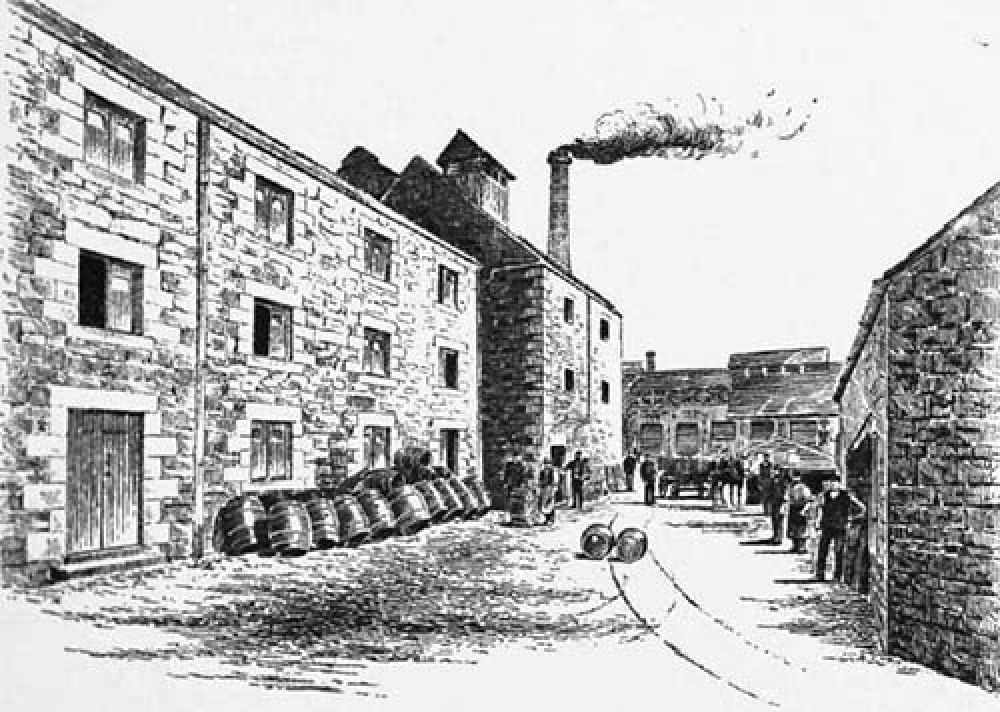 The courtyard of the Blackford Brewery