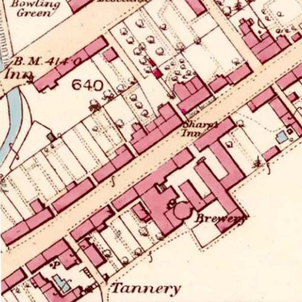 Map of 1863 showing the layout of the Blackford Brewery &copy: National Library of Scotland, 2015
