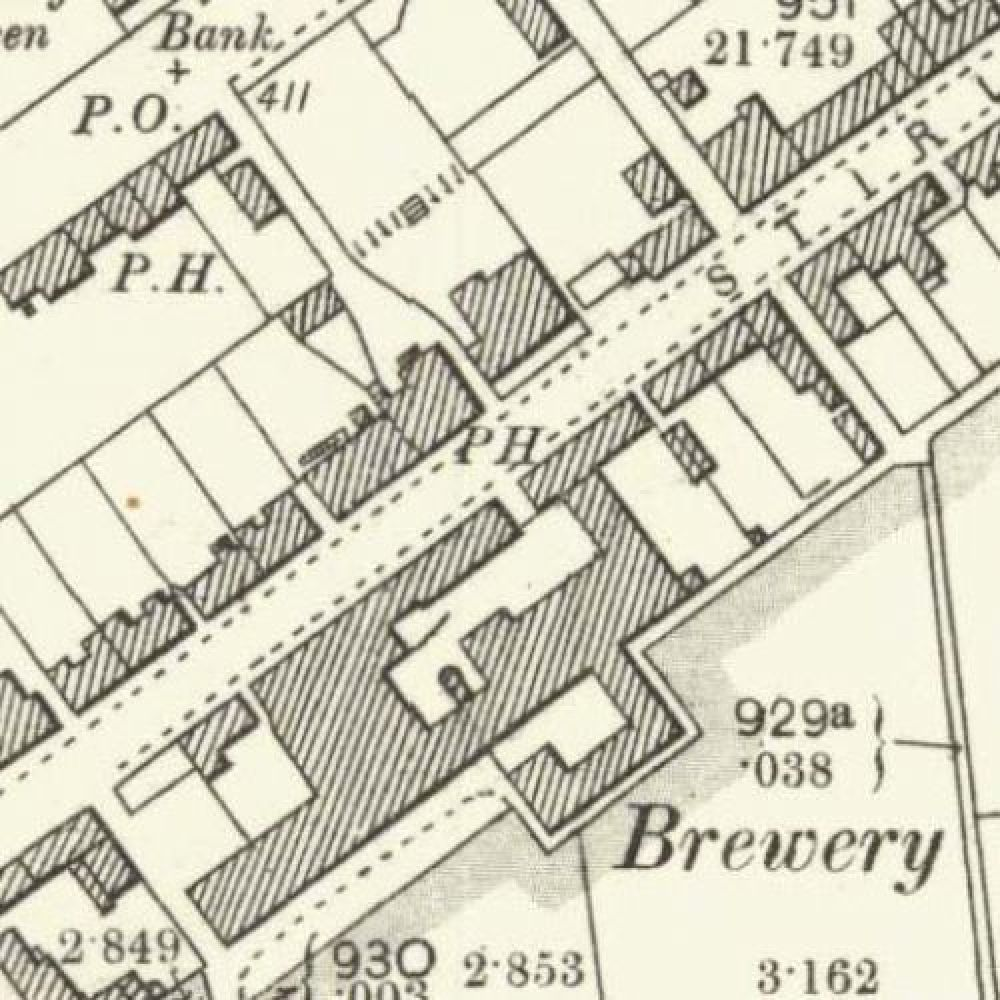 Map of 1899 showing the layout of the Blackford Brewery &copy: National Library of Scotland, 2015