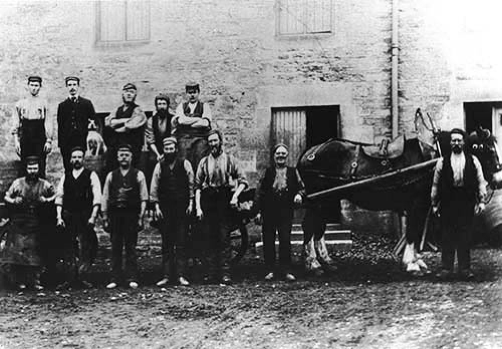 Carters for the Blackford Brewery in the late 19th/early 20th century © Blackford Historical Society, 2015
