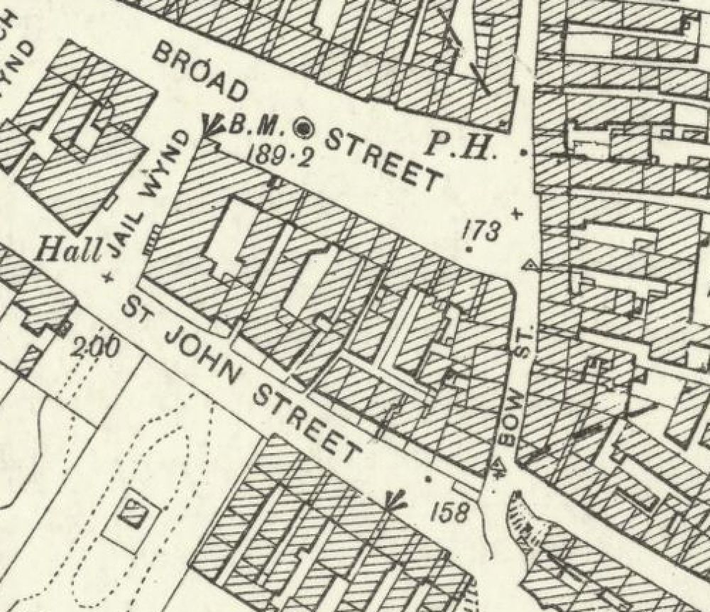 Map of 1896 showing the layout of the Broad Street Brewery. © National Library of Scotland, 2016.