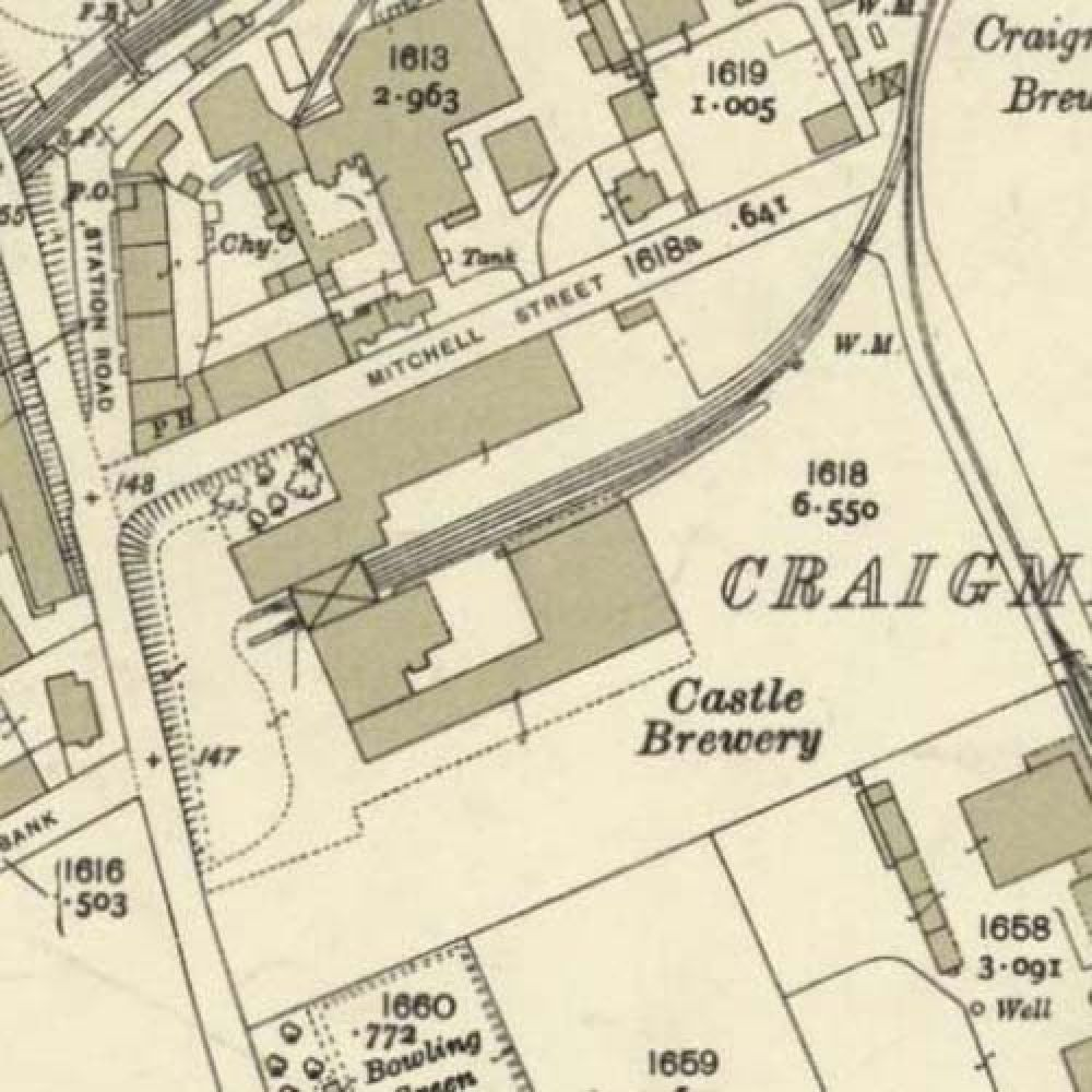 Map of 1932 showing the layout of the Castle Brewery. © National Library of Scotland, 2015