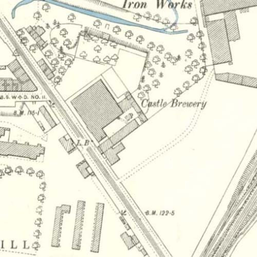 Map of 1893 showing the layout of the Castle Brewery. © National Library of Scotland, 2015
