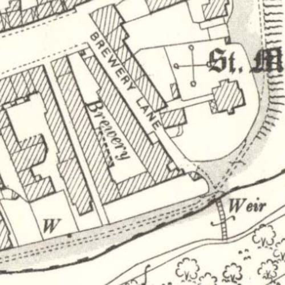 Map of 1896 showing the layout of the Coldstream Brewery. © National Library of Scotland, 2015