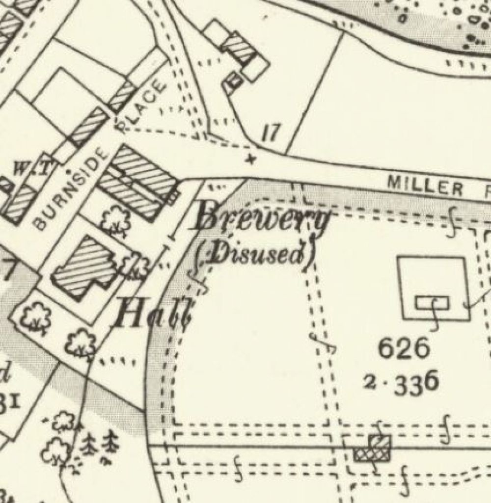 Map of 1904 shpwing the Cromarty Brewery. © National Library of Scotland, 2015
