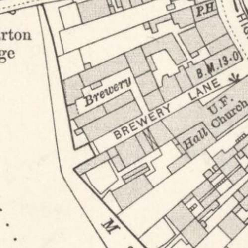 Map of 1914 showing the layout of the Crown Brewery. © National Library of Scotland, 2015