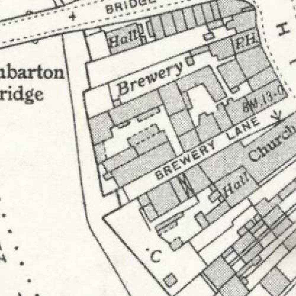 Map of 1937 showing the lyout of the Crown Brewery. © National Library of Scotland, 2015