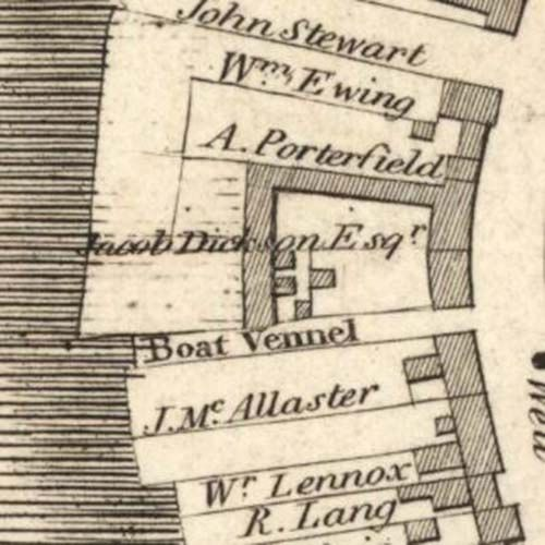 Map of 1818 showing the layout of the Dumbarton Brewery. © National Library of Scotland, 2015