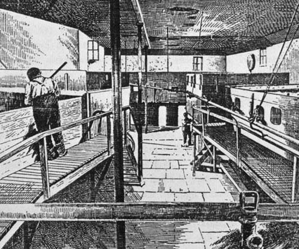 The tun room in the 1880s.