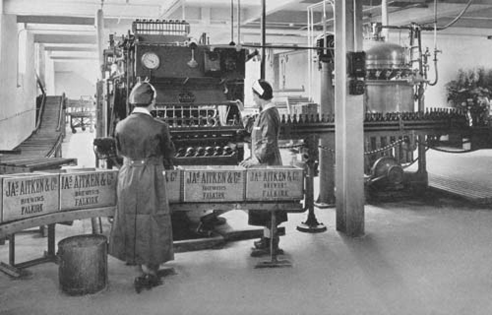 The bottling line in 1940.