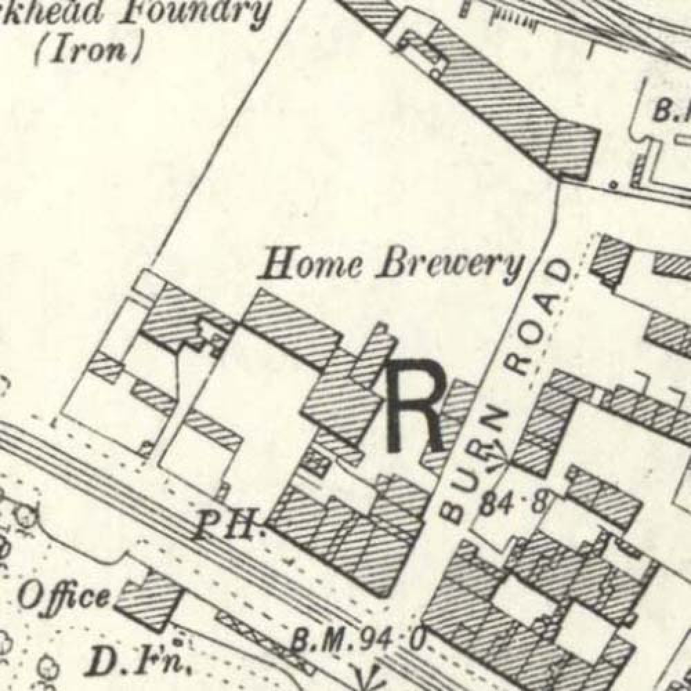 Map of 1892 showing the layout of the Home Brewery. © National Library of Scotland, 2015