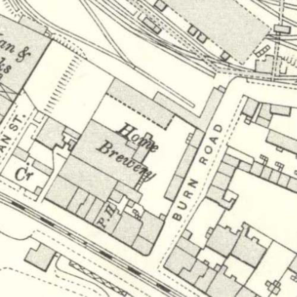 Map 1893 showing the layout of the Home Brewery. © National Library of Scotland, 2015