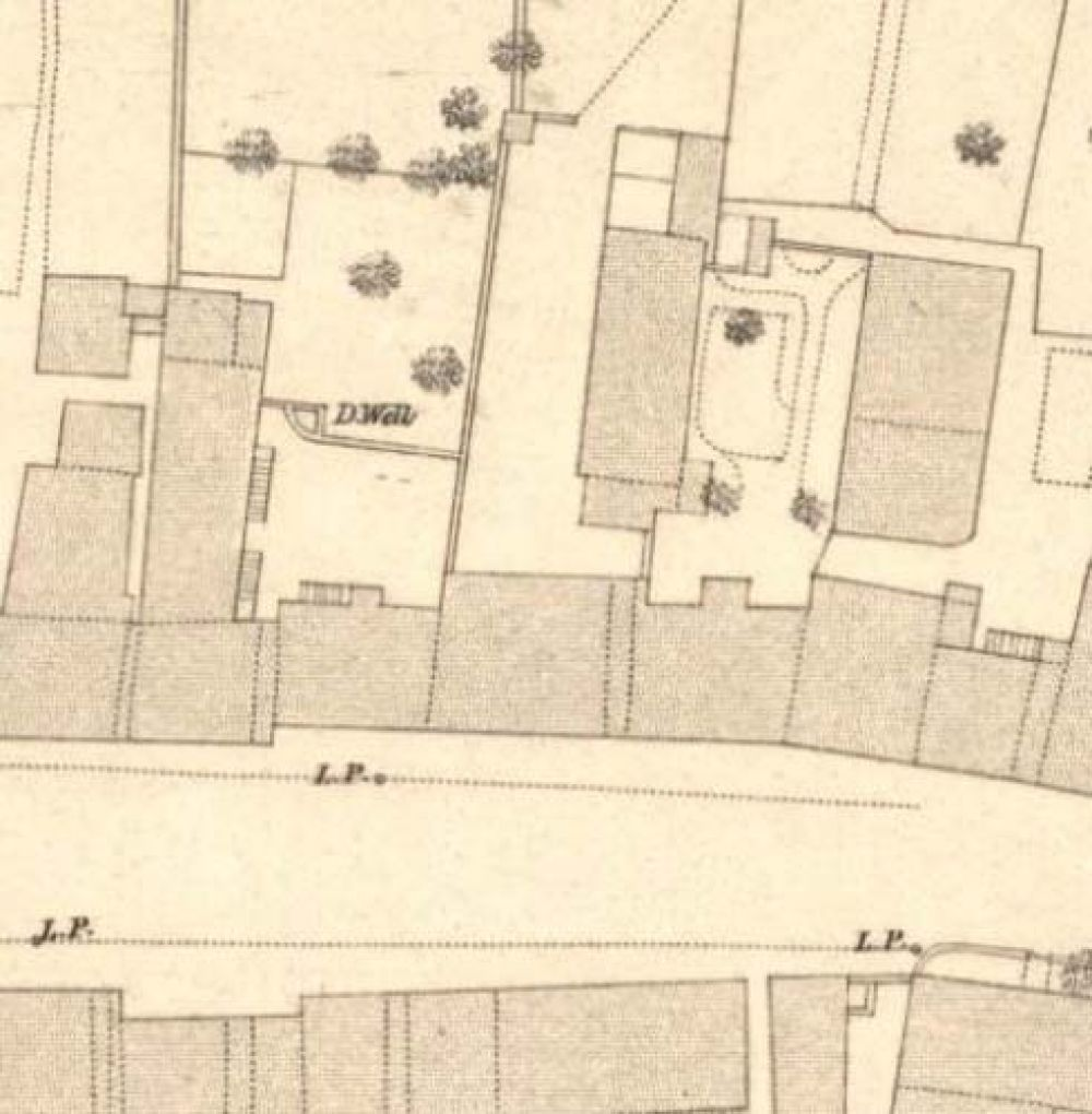 Map of 1853 showing the layout of the front of the Ladywell Brewery. © National Library of Scotland, 2017