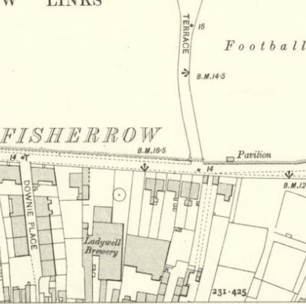 Map of 1906 showing the layout of the rear of the Ladywell Brewery. © National Library of Scotland, 2017