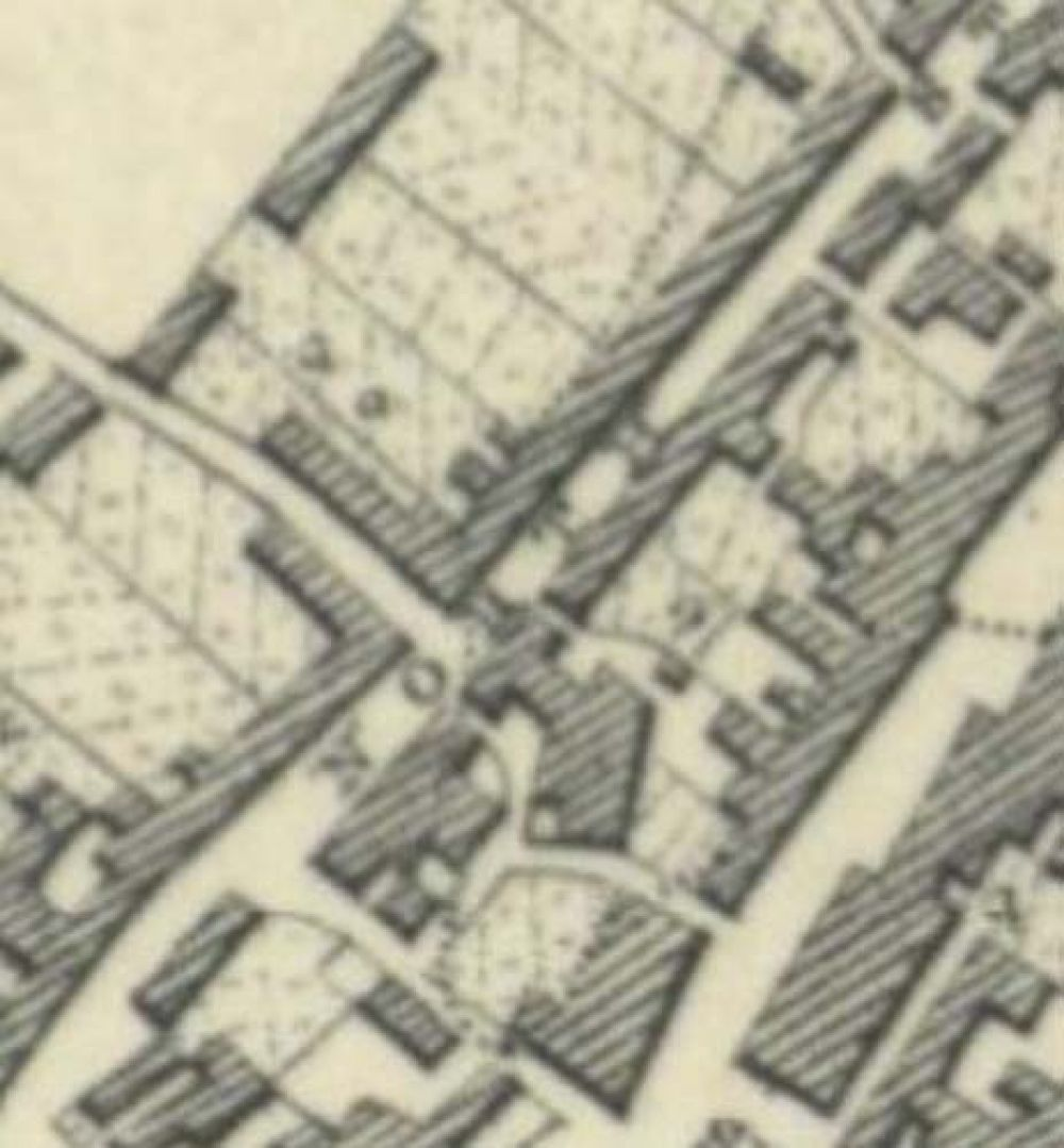 Map of 1853 showing the location of the Leven Brewery. © National Library of Scotlnd, 2017