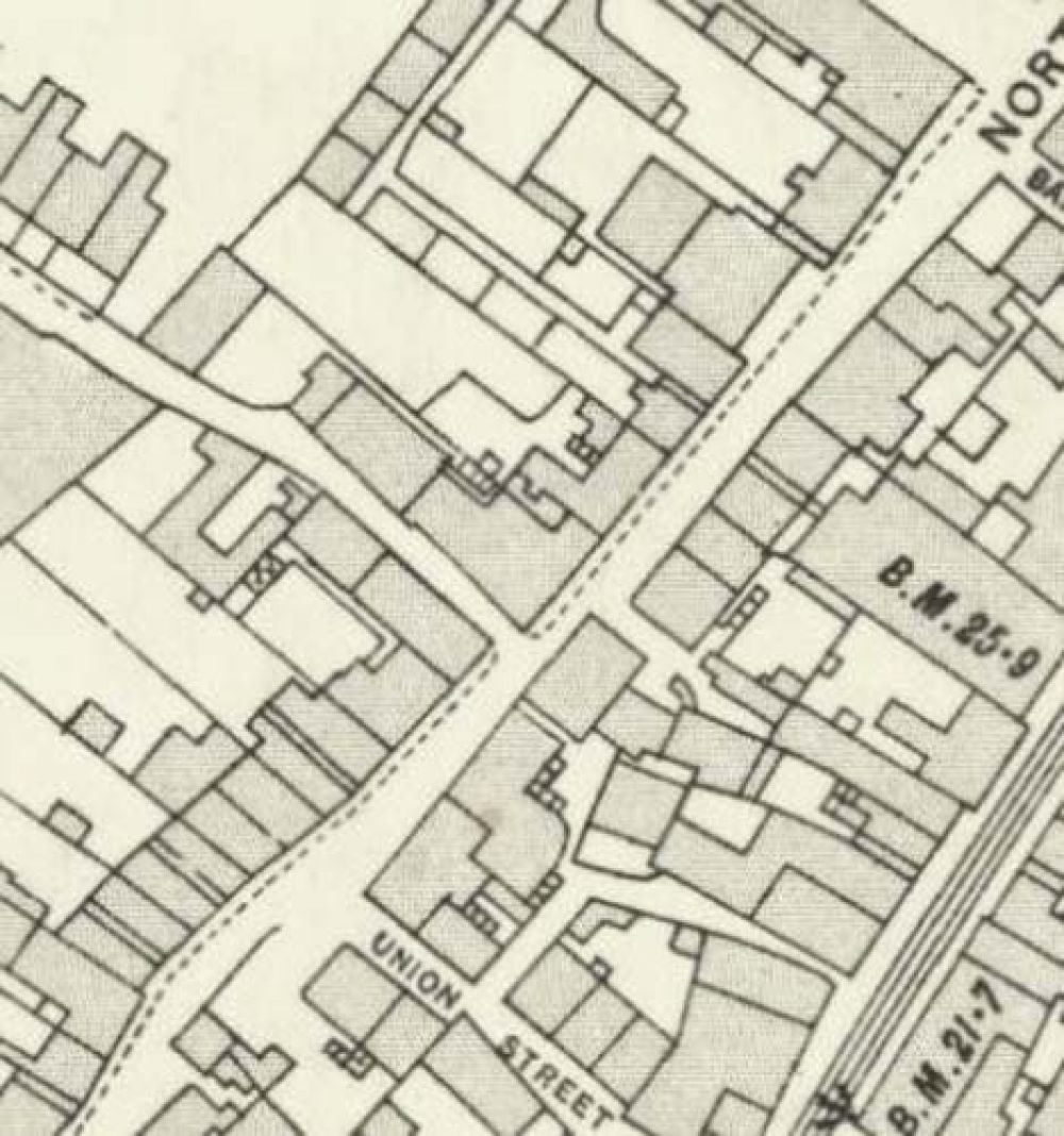 Map of 1913 showing the Leven Brewery. © National Library of Scotland, 2017