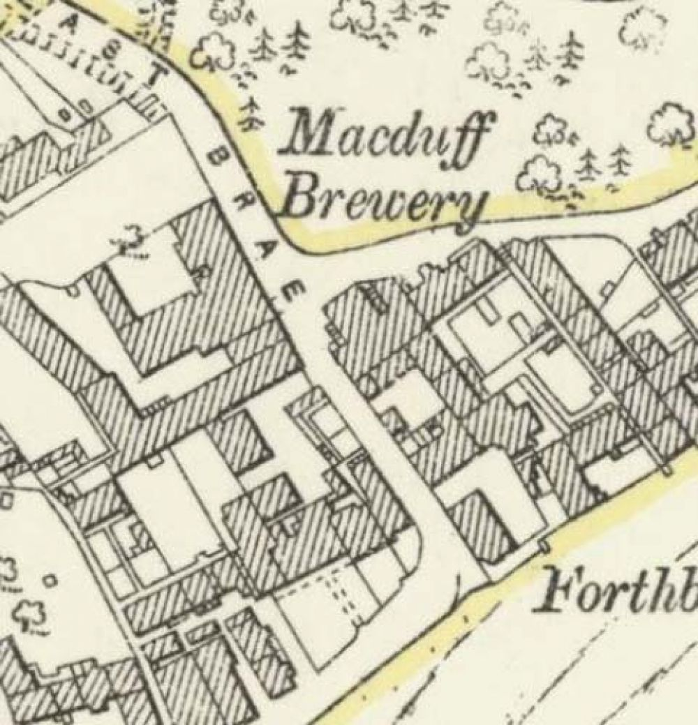 Map of 1893 showing the layout of the MacDuff Brewery. © National Library of Scotland, 2017