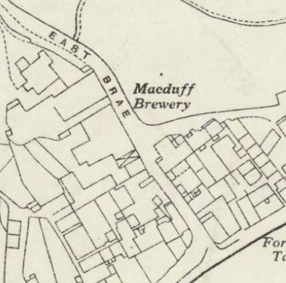 Map of 1938 showing the layout of the MacDuff Brewery. © National Library of Scotland, 2017
