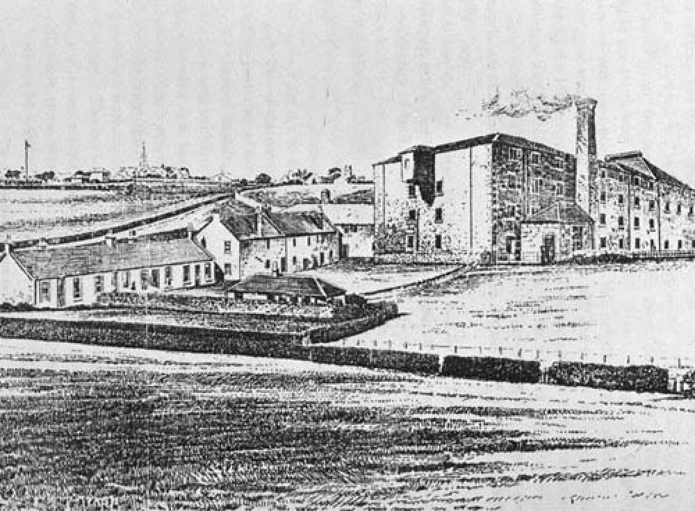 The maltings from the south-west in the 1890s.