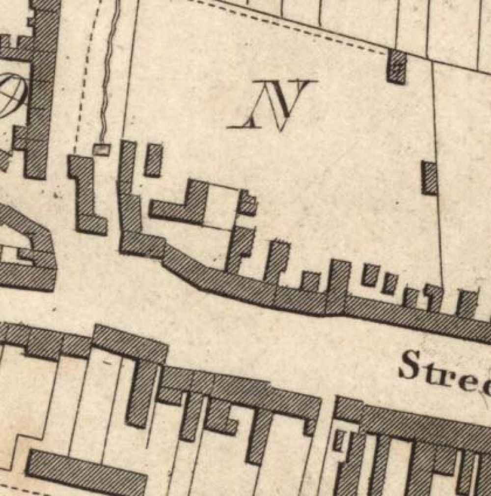 Map of 1818 showing the location of the Newton Brewery. © National Library of Scotland, 2015