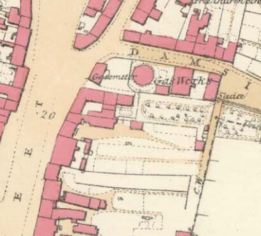 Map of 1857 showing the location of the Newton Brewery. © National Library of Scotland, 2015