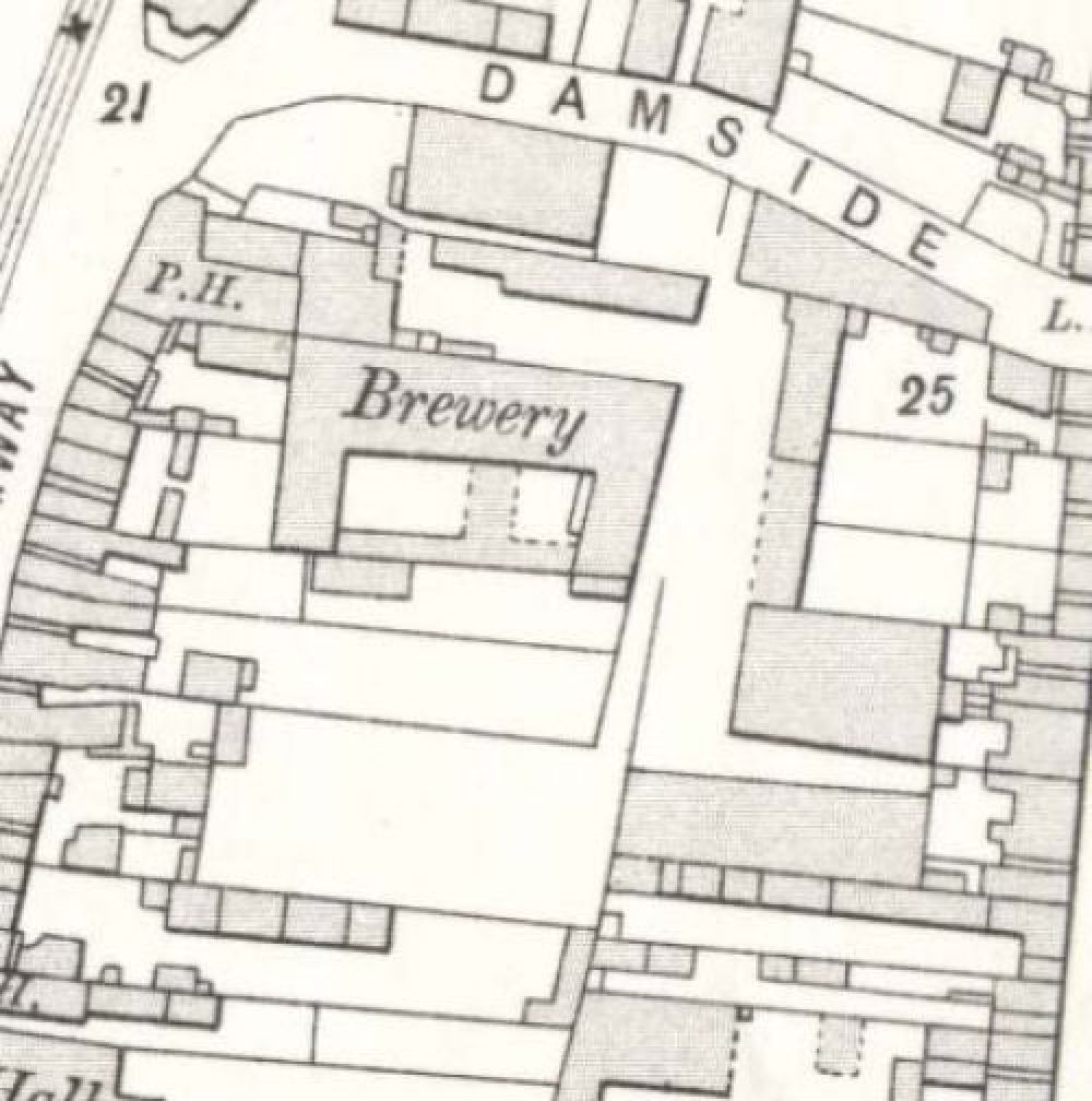 Map of 1908 showing the layout of the Newton Brewery. © National Library of Scotland, 2015