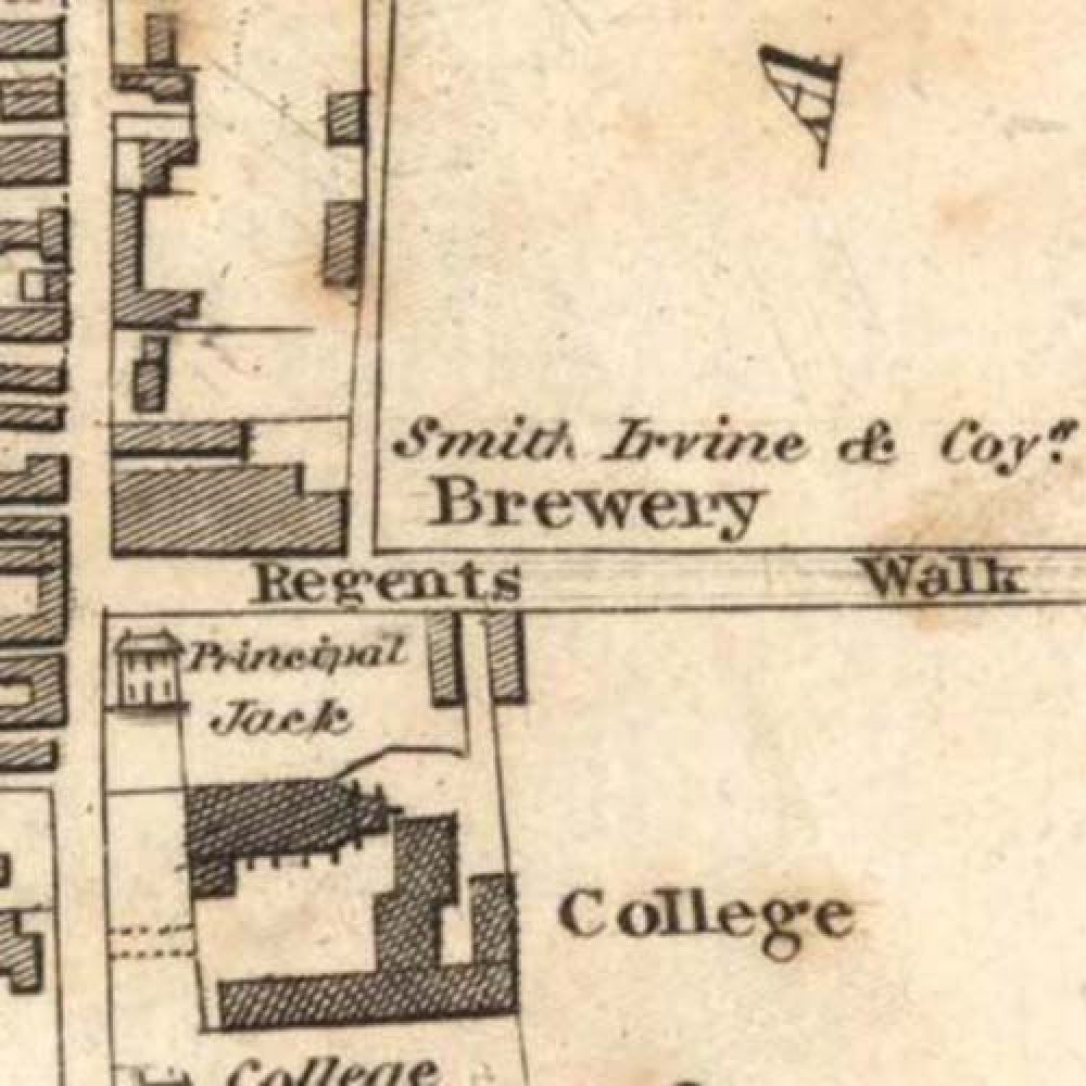 Map of 1828 showing the layout of the Old Town Brewery. © National Library of Scotland, 2015