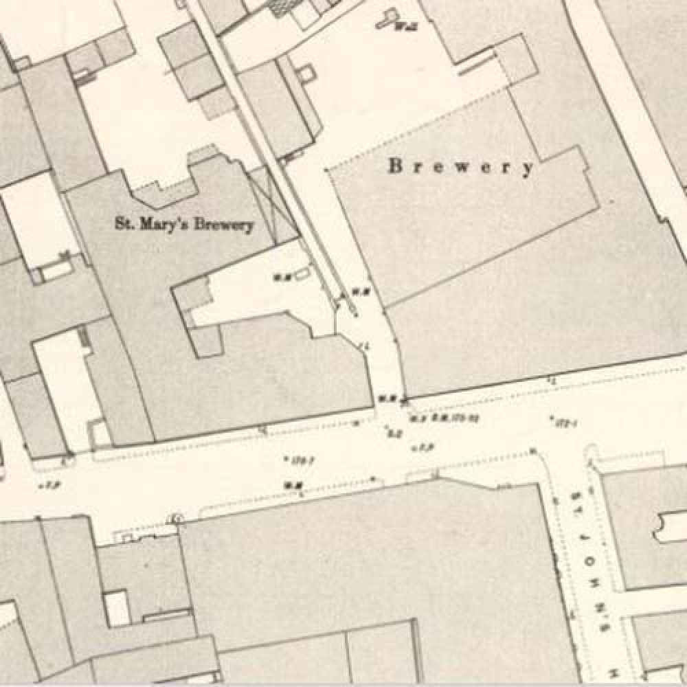 Map of 1894 showing the layout of the St Mary's Brewery. © National Library of Scotland, 2016