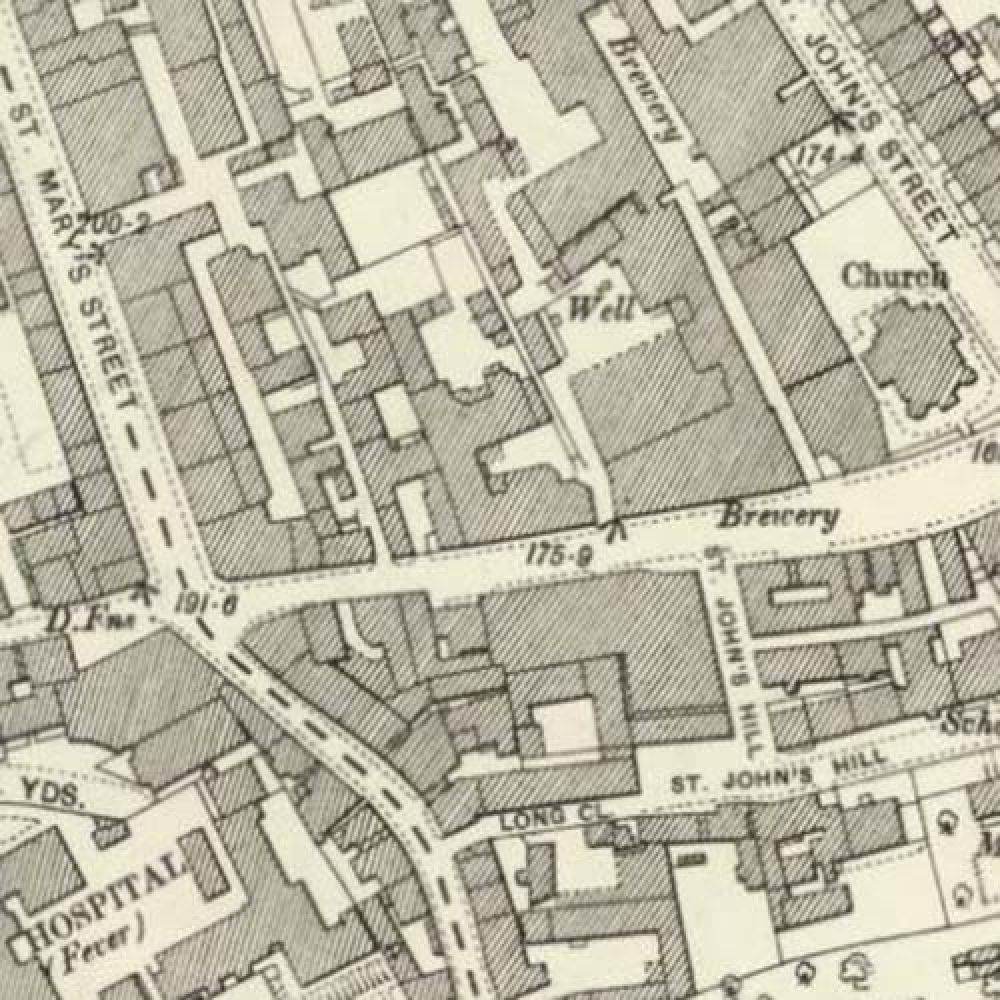 Map of 1896 showing the layout of the St Mary's Brewery. © National Library of Scotland, 2016