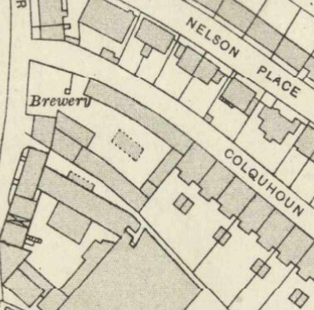 Map of 1913 showing the layout of the St Ninian's Well Brewery. © National Library of Scotland, 2016