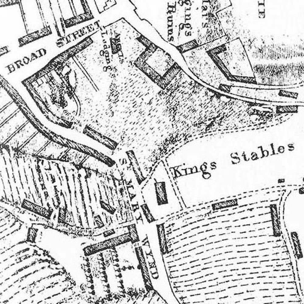 Map of 1780s showing the site of the later Stirling Brewery. © Forbes Gibb, 2015