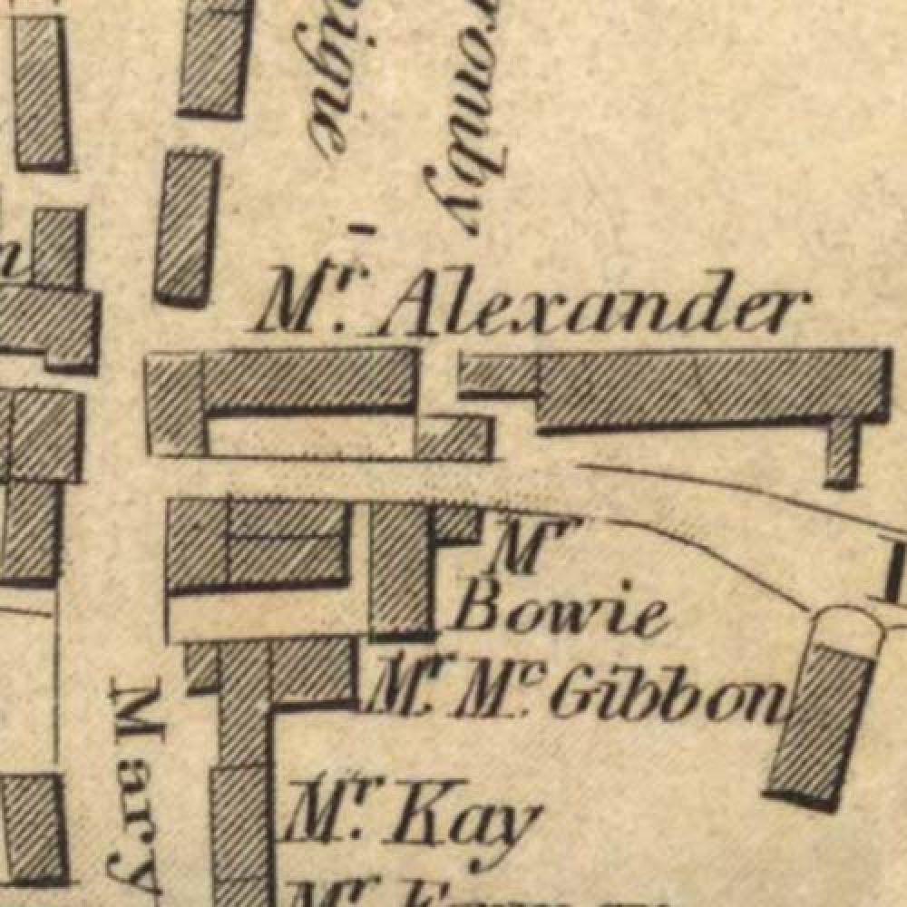 Map of 1820 showing the layout of the Stirling Brewery. © National Library of Scotland, 2015