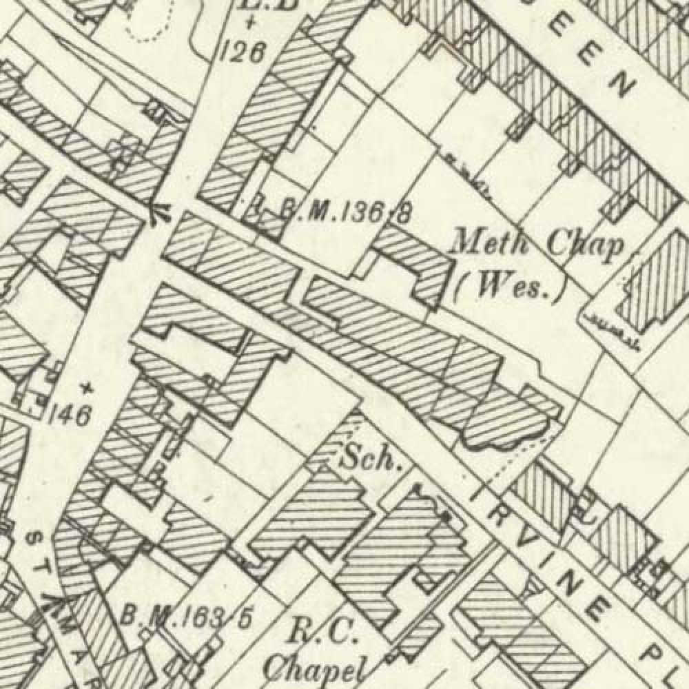 Map of 1896 showing the layout of the Stirling Brewery. © National Library of Scotland, 2015