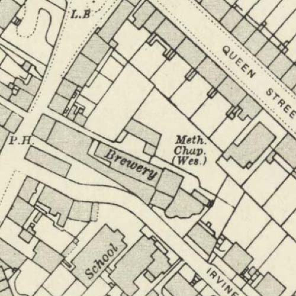 Map of 1913 showing the layout of the Stirling Brewery. © National Library of Scotland, 2015