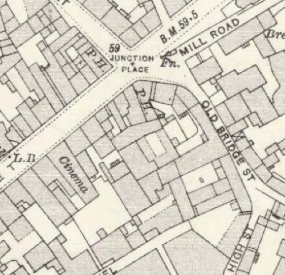 Map of 1920 showing the Thistle Brewery. © National Library of Scotland, 2015.