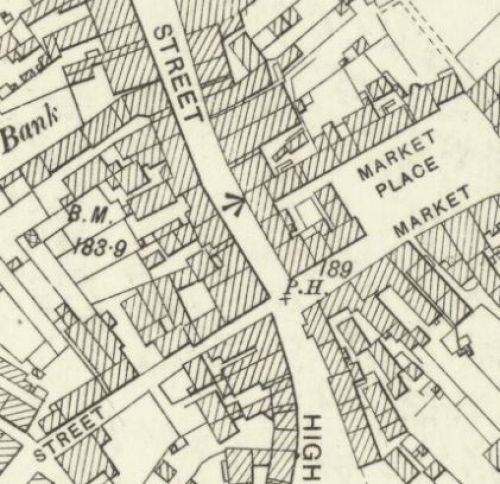 Map of 1896 showing the location of the Kilsyth Brewery