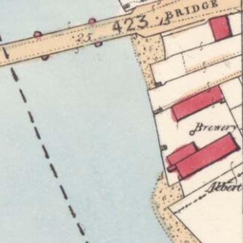 Map of 1860 showing the Dumbarton Brewery