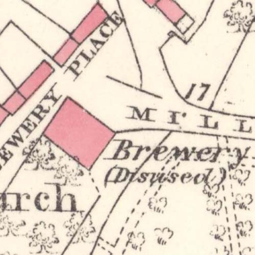 Map of 1871 showing the Cromarty Brewery