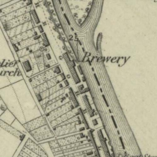 Map of 1846 showing the Newton Stewart Brewery