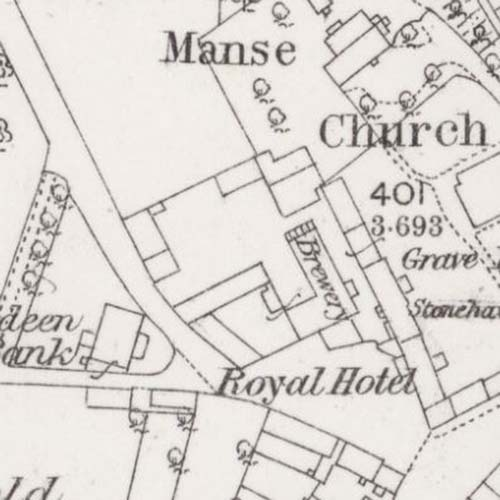 Map of 1864 showing the Laurencekirk Brewery