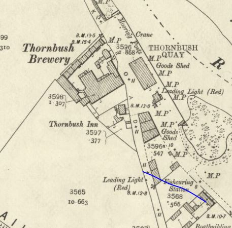 Map of 1903 showing the Thornbush Brewery