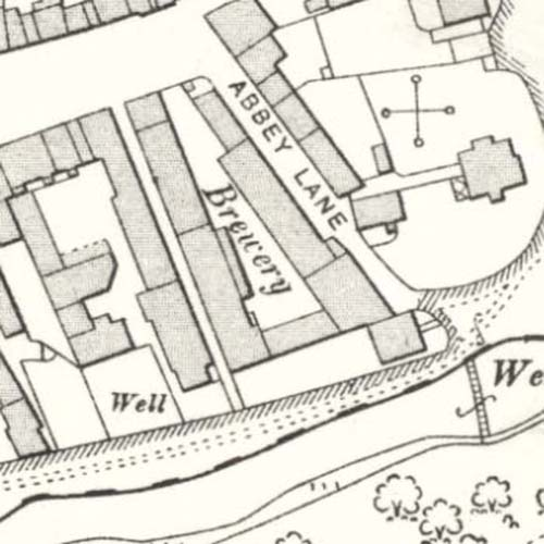 Map of 1906 showing the Coldstream Brewery
