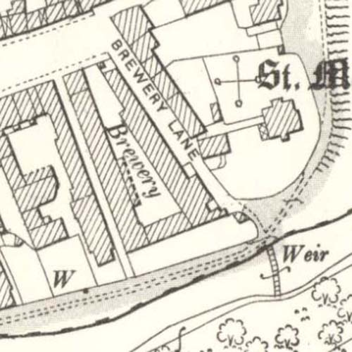 Map of 1896 showing the Coldstream Brewery