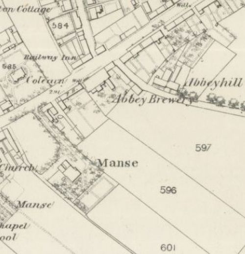 Map of 1860 showing the layout of the Abbey Brewery