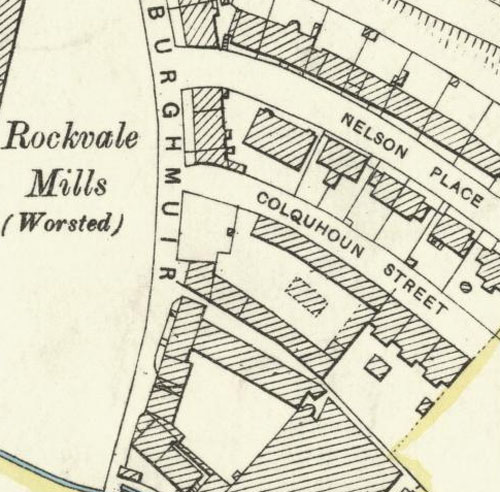 Map of 1896 showing the location of the St Ninian's Well Brewery